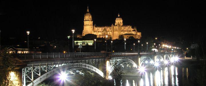 Catedral de Salamanca vista desde el Río Tormes
