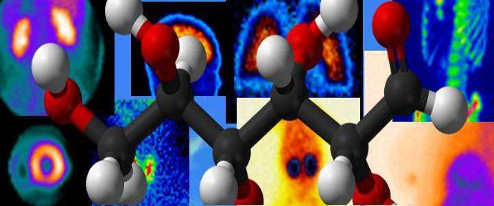 Mosaico de gammagrafías y estructura molecular